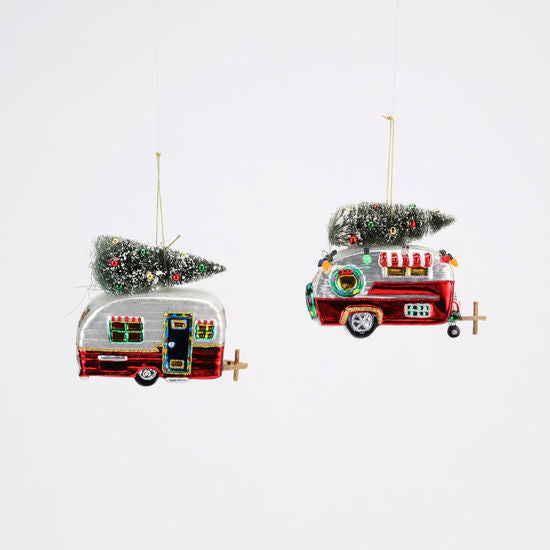 Camper with Tree Ornament