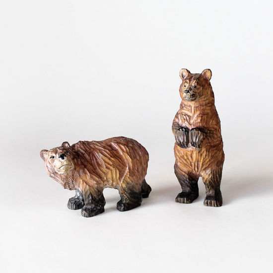 Carved Wood Bear