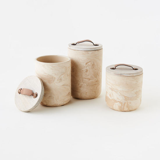 Natural Marbled Canister