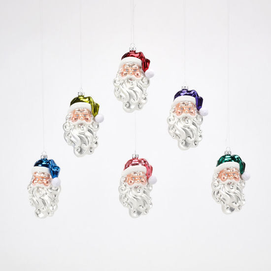 Bright Santa Head Ornament