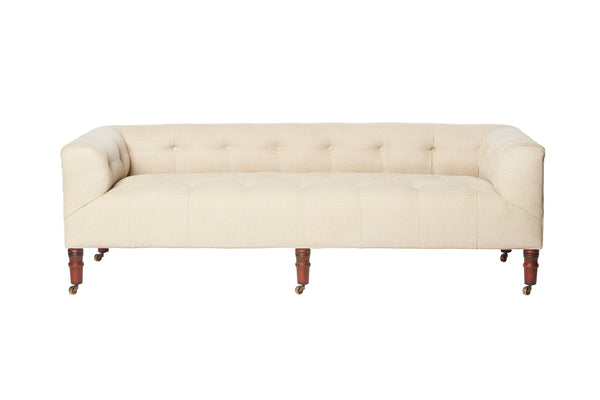 John Derian Field Bench w/ Back - Mika Cloud