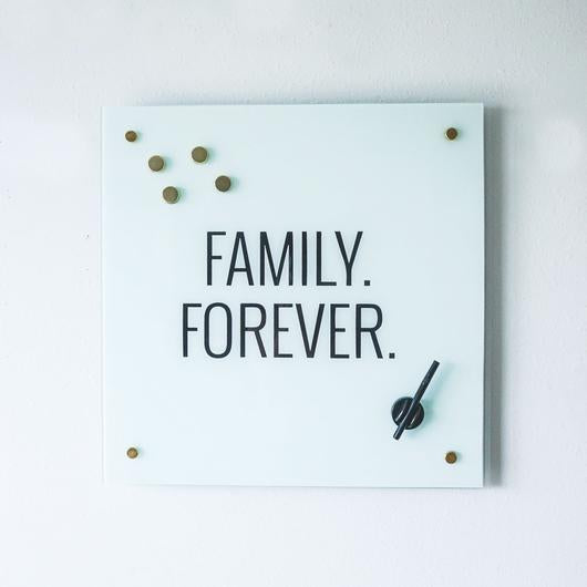 Family Forever Glass Magnet  Board