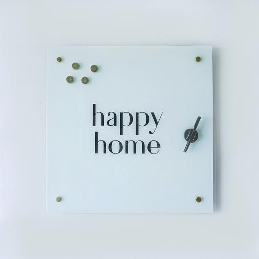 Happy Home Glass Magnet Board