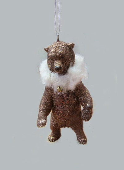 Bear with Fur Scarf Ornament