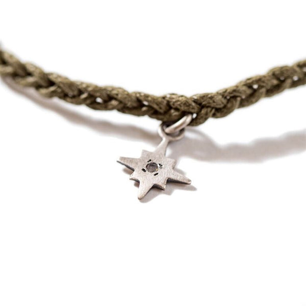 Star Pendant on Braided Bracelet