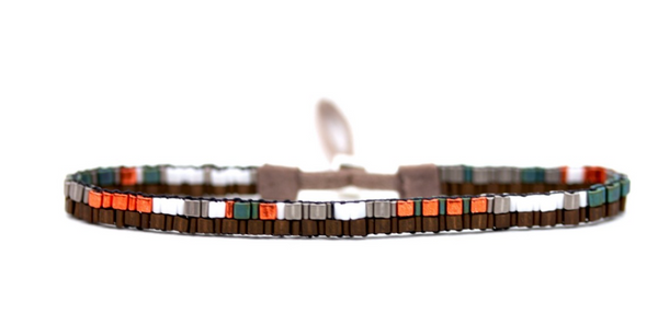 Handwoven Triangle Beaded Bracelet