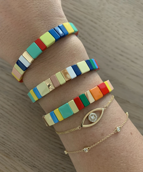 Color Block Tile Bracelet