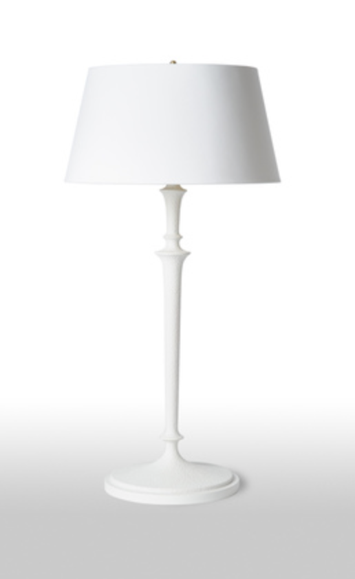 Molded Plaster Table Lamp