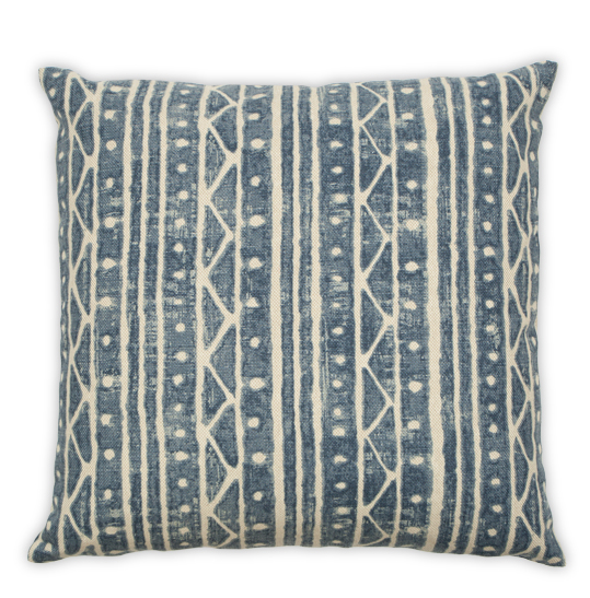 Tribal Blue Pillow