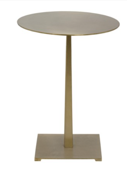 Stiletto Side Table Antique Brass T A Lorton