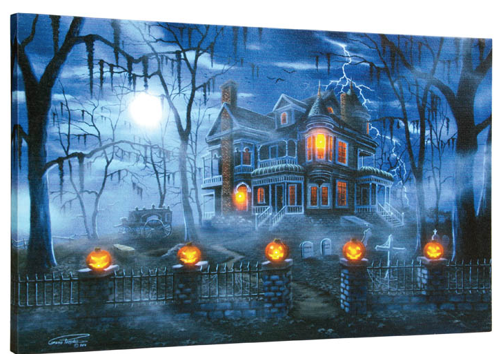 Lighted Misty Magic Canvas