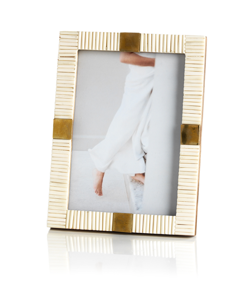 Maha with Brass Trim Photo Frame