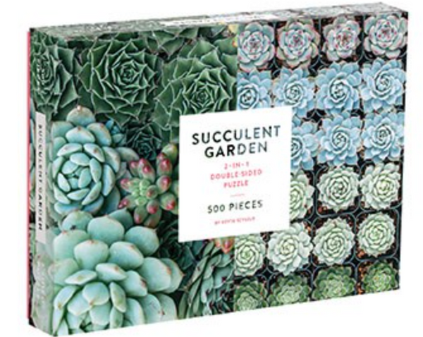 Succulent Garden 2 - Sided 500 Piece Puzzle