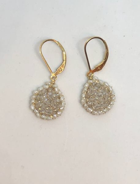 Pearl Mesh Earrings