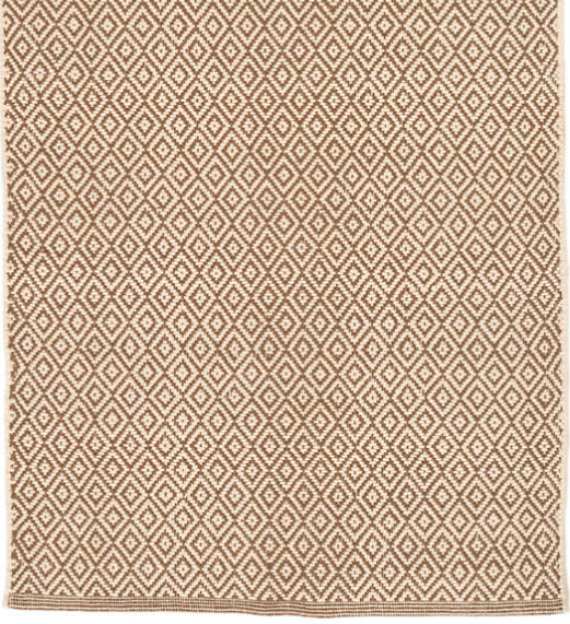 Lattice Woven Cotton Rug