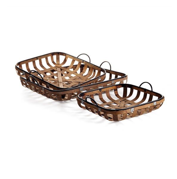 Riverbend Low Baskets with Handles