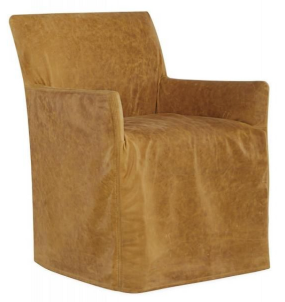 LS1757-41C Leather Slipcovered Chair