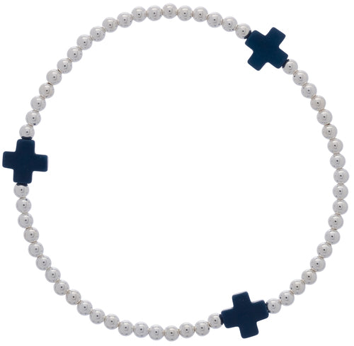 Signature Cross Bracelet Silver