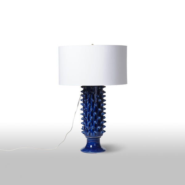 Spiked Blue Lamp