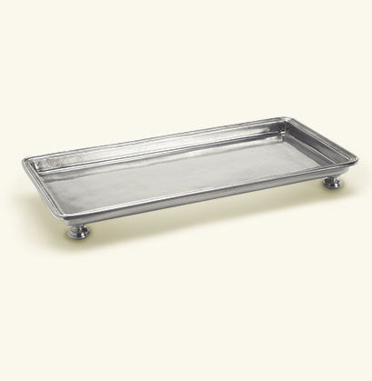 Footed Rectangle Service/Vanity Tray