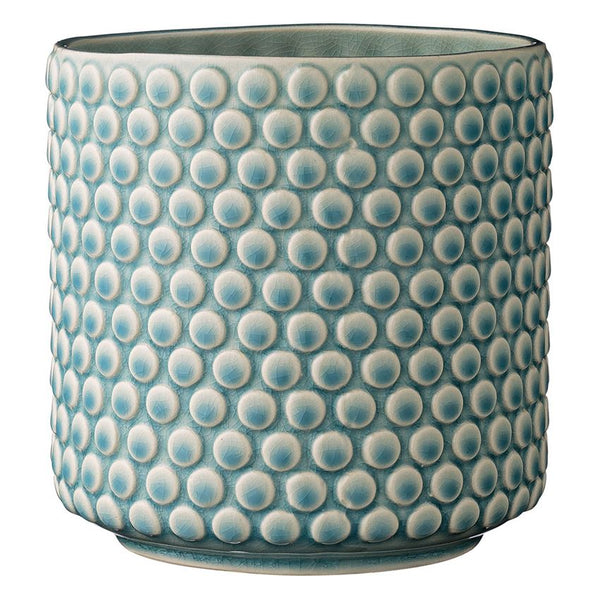 Dot Stoneware Flower Pot