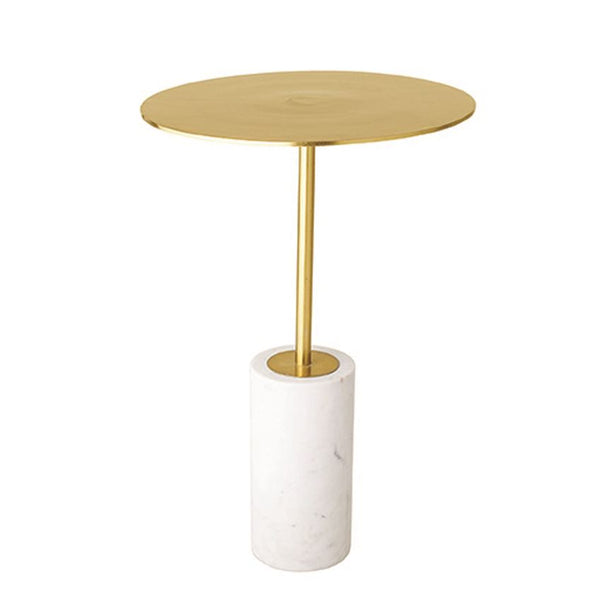 Metal Table with Marble Base