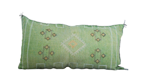Hand-Loomed Cactus Silk & Cotton Pillow