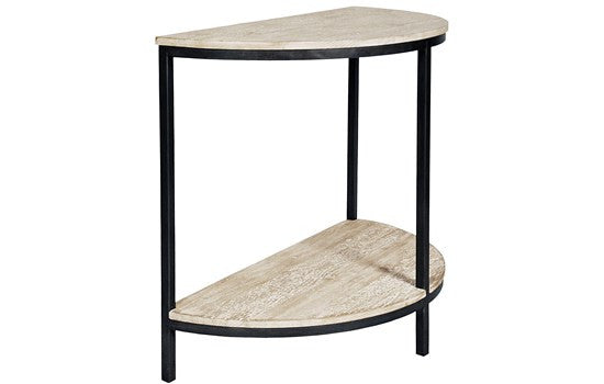 Steel Demi Lune Table