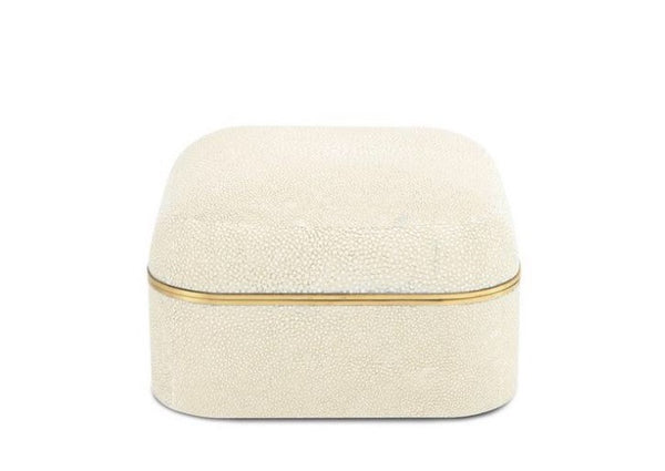 AERIN Modern Shagreen Square Box