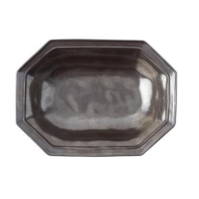 "Juliska Pewter 12"" Octagonal Bowl"