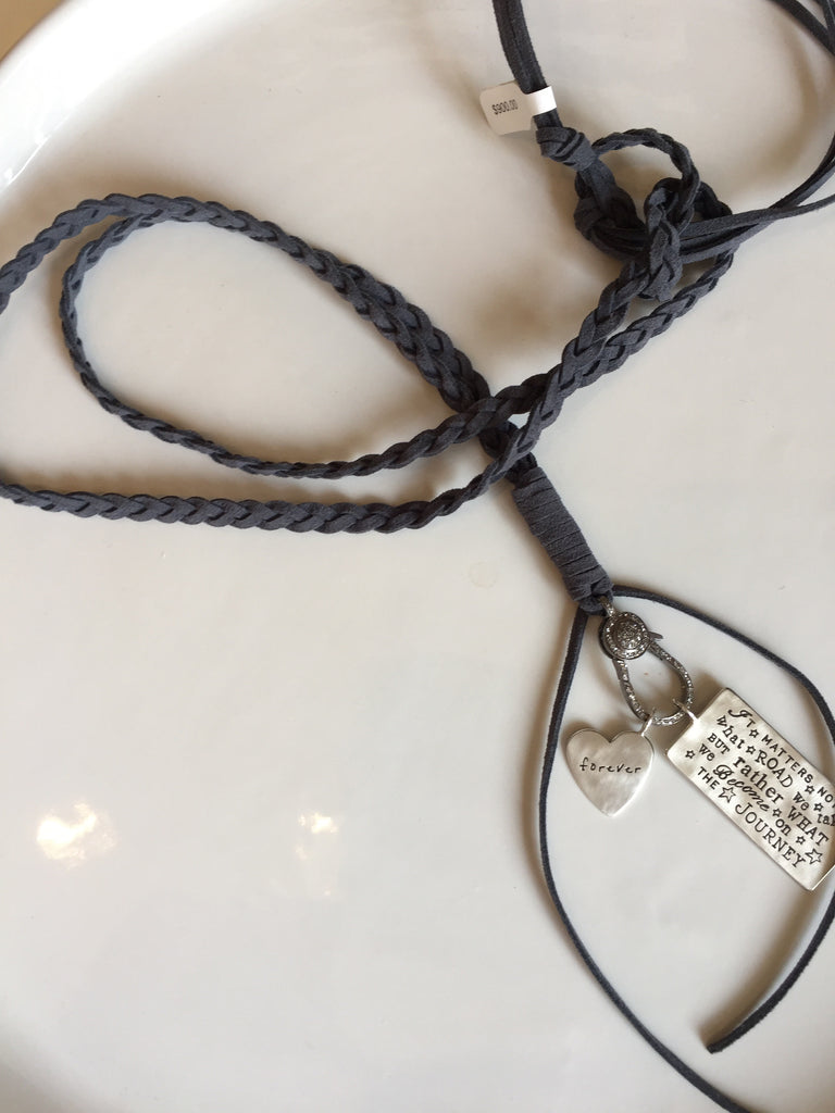 Braided Suede with Silver Links