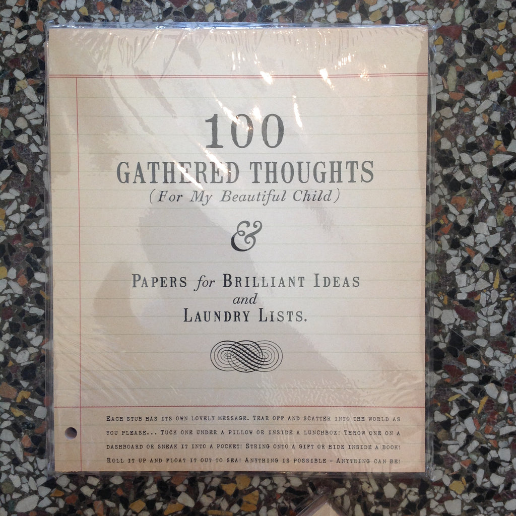 100 Gathered Thoughts Notepad