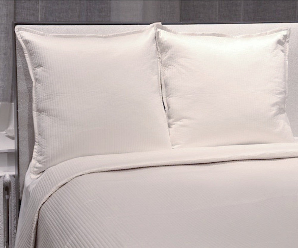 Ivory Quilted Coverlet Set
