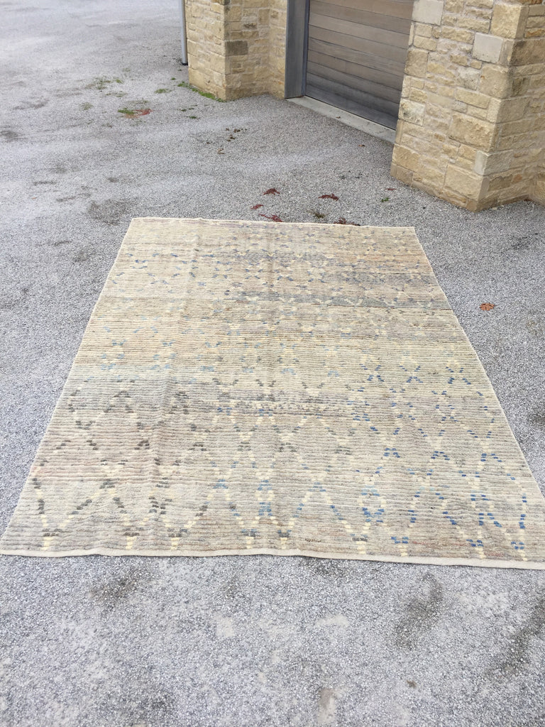 Pale Neutral Kilim Rug