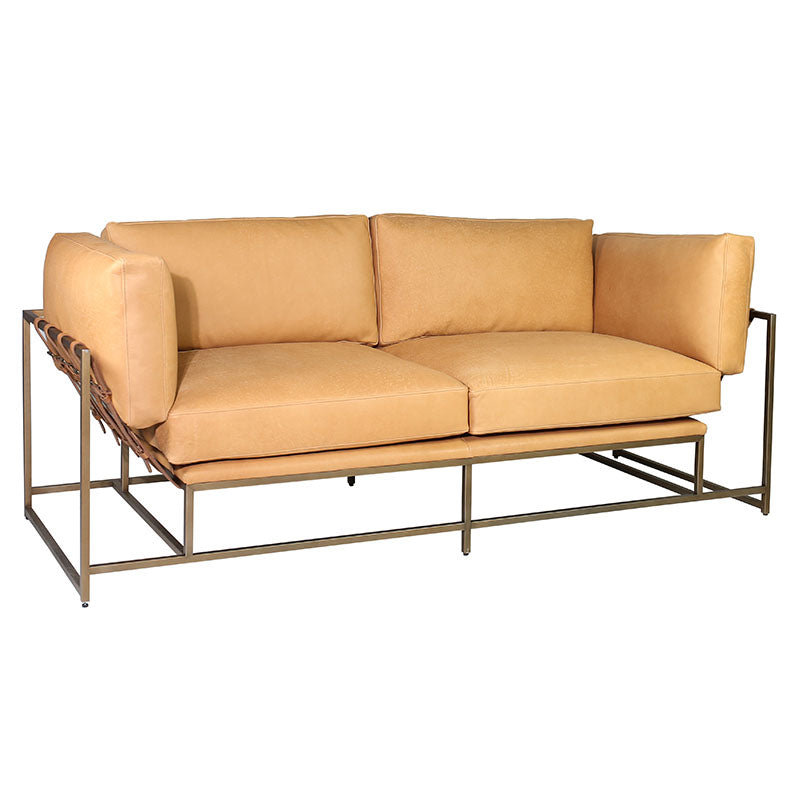 Leather Strap Sofa