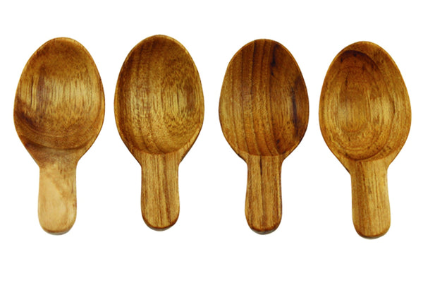 Teak Oval Scoop