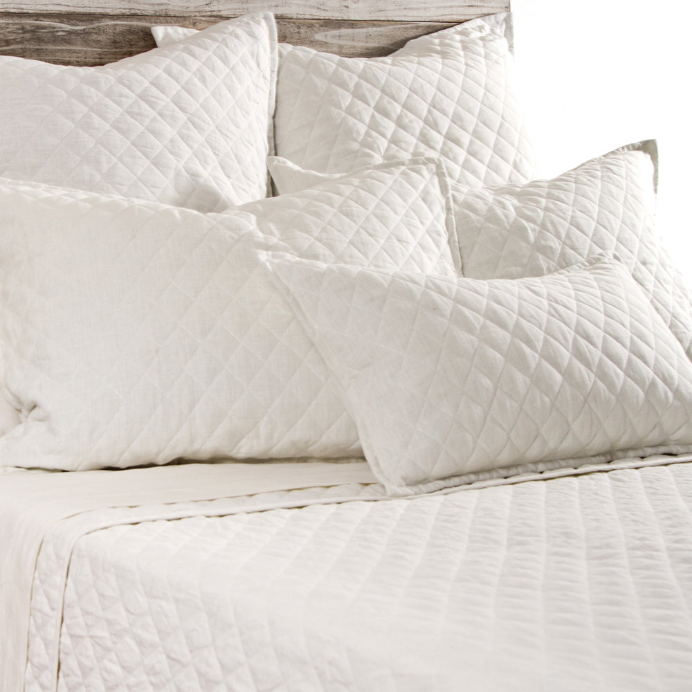 White Quilted King Coverlet