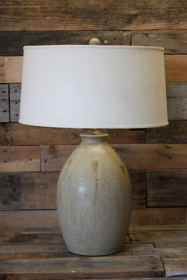 Egg Lamp Travertine