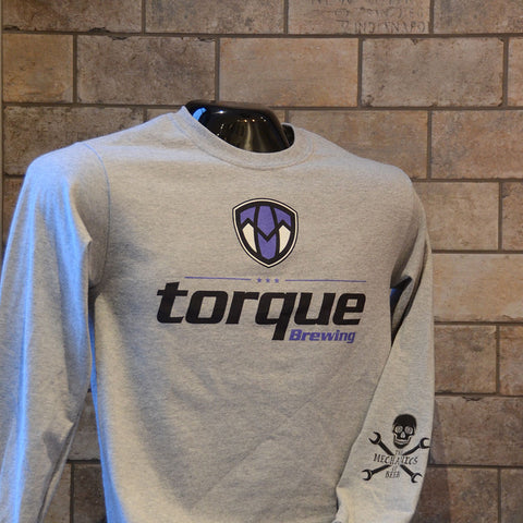 Unisex blue Torque logo long sleeve T