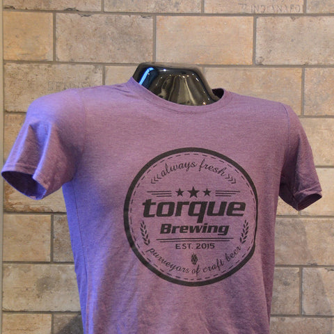 Men's purple Torque crest T