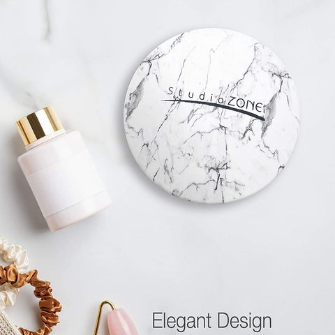 StudioZone Magnifying Makeup Marble Compact Mirror