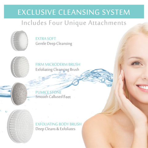 Perfect Skin Brushing System - Set of 4 Replacement Heads - Essential Skin Solutions
