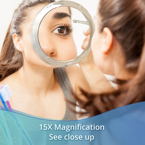 15X Magnifying Suction Cup Mirror