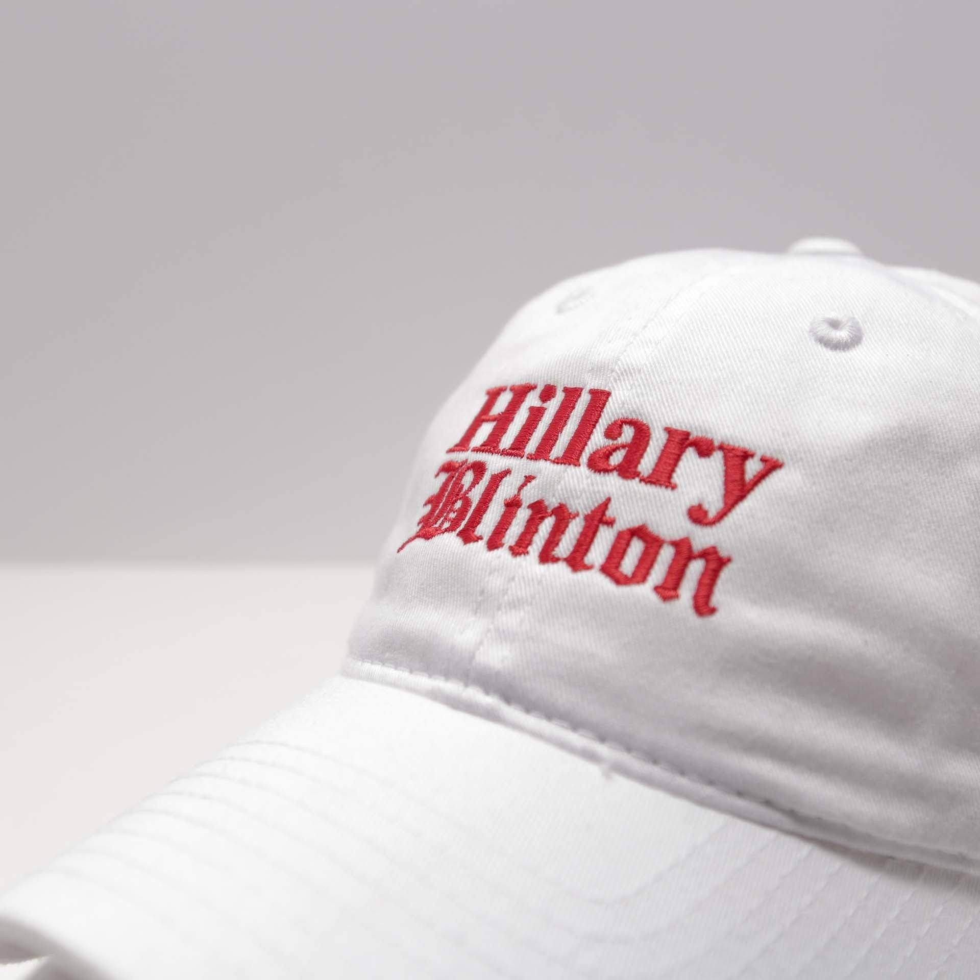 White Hillary Blinton Cap - SeasonCaps  - Dad Cap