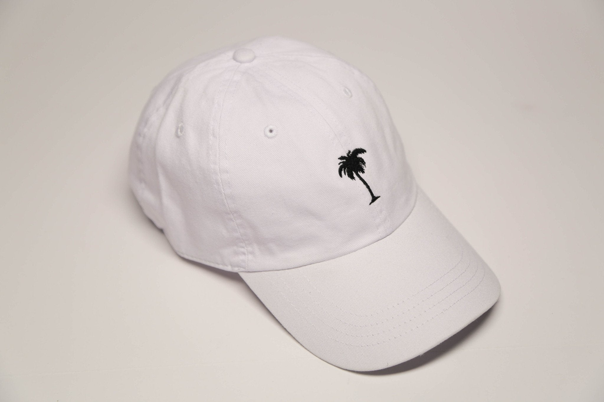 White Palm Tree - SeasonCaps  - Dad Cap