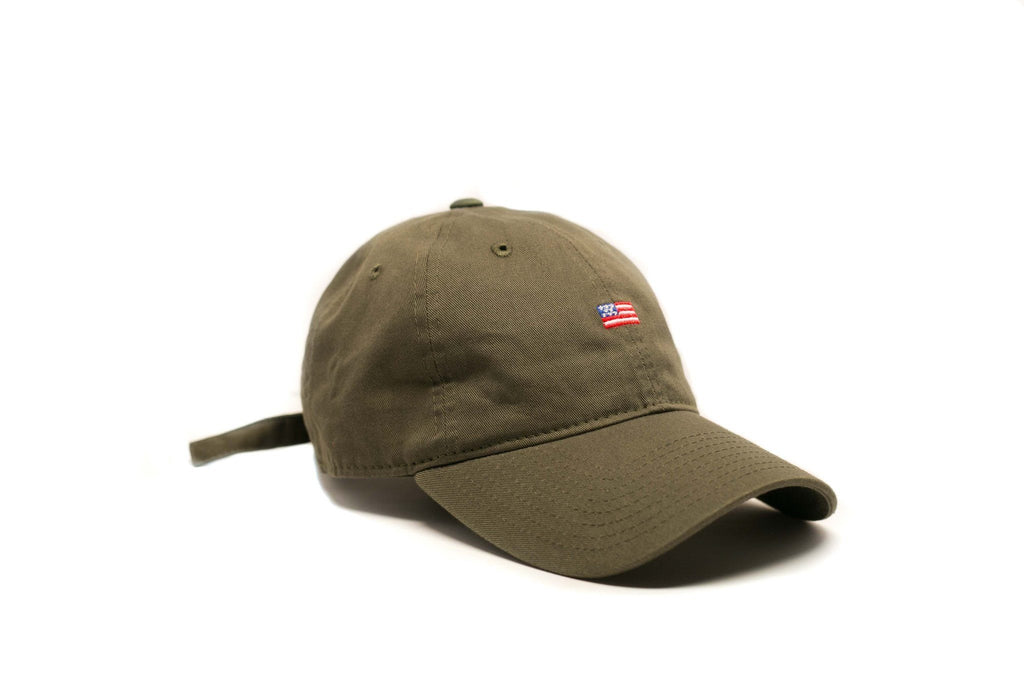 Olive Vintage USA Polo - SeasonCaps  - Dad Cap