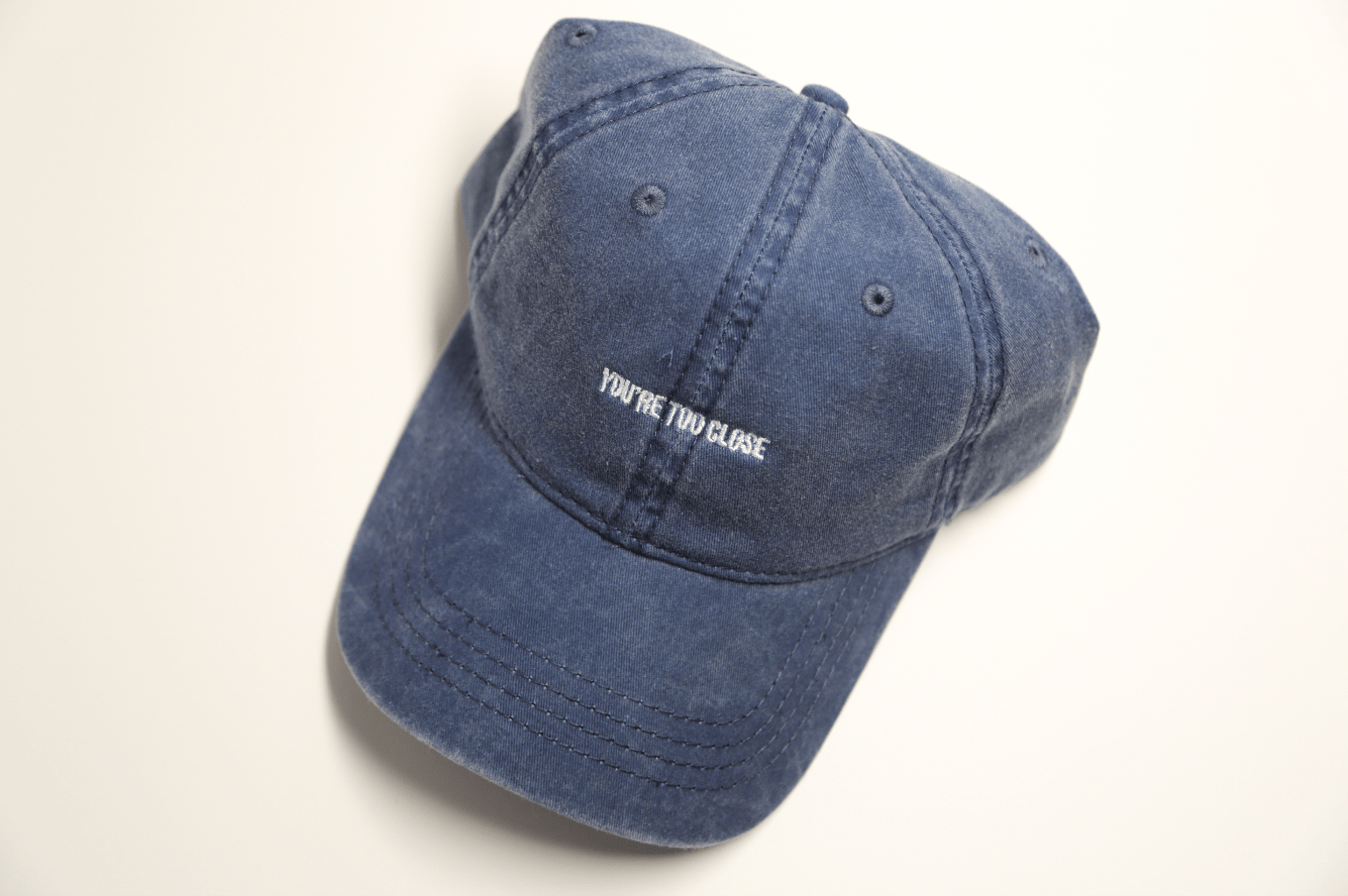 Faded Navy - Too Close - SeasonCaps  - Dad Cap
