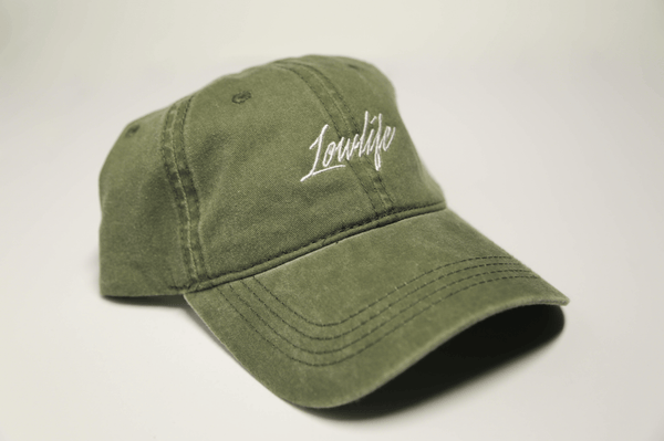 Faded Olive Green Lowlife - SeasonCaps  - Dad Cap
