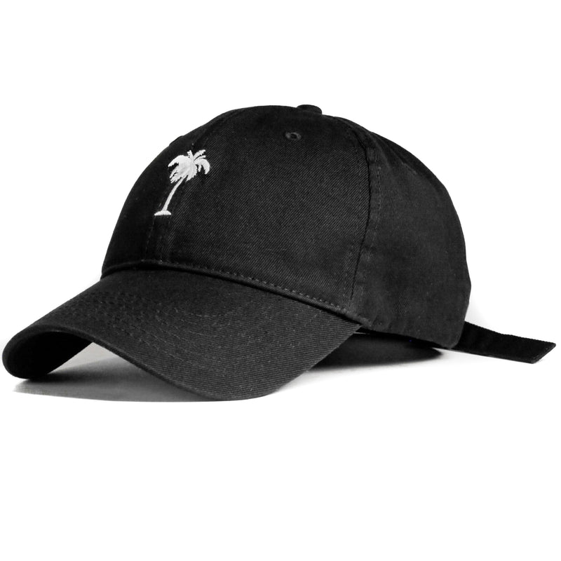 Black Palm Tree (Unconstructed) - SeasonCaps  - Dad Cap