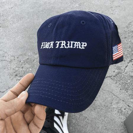 Fvck Trump Navy (unstructured dad hat)